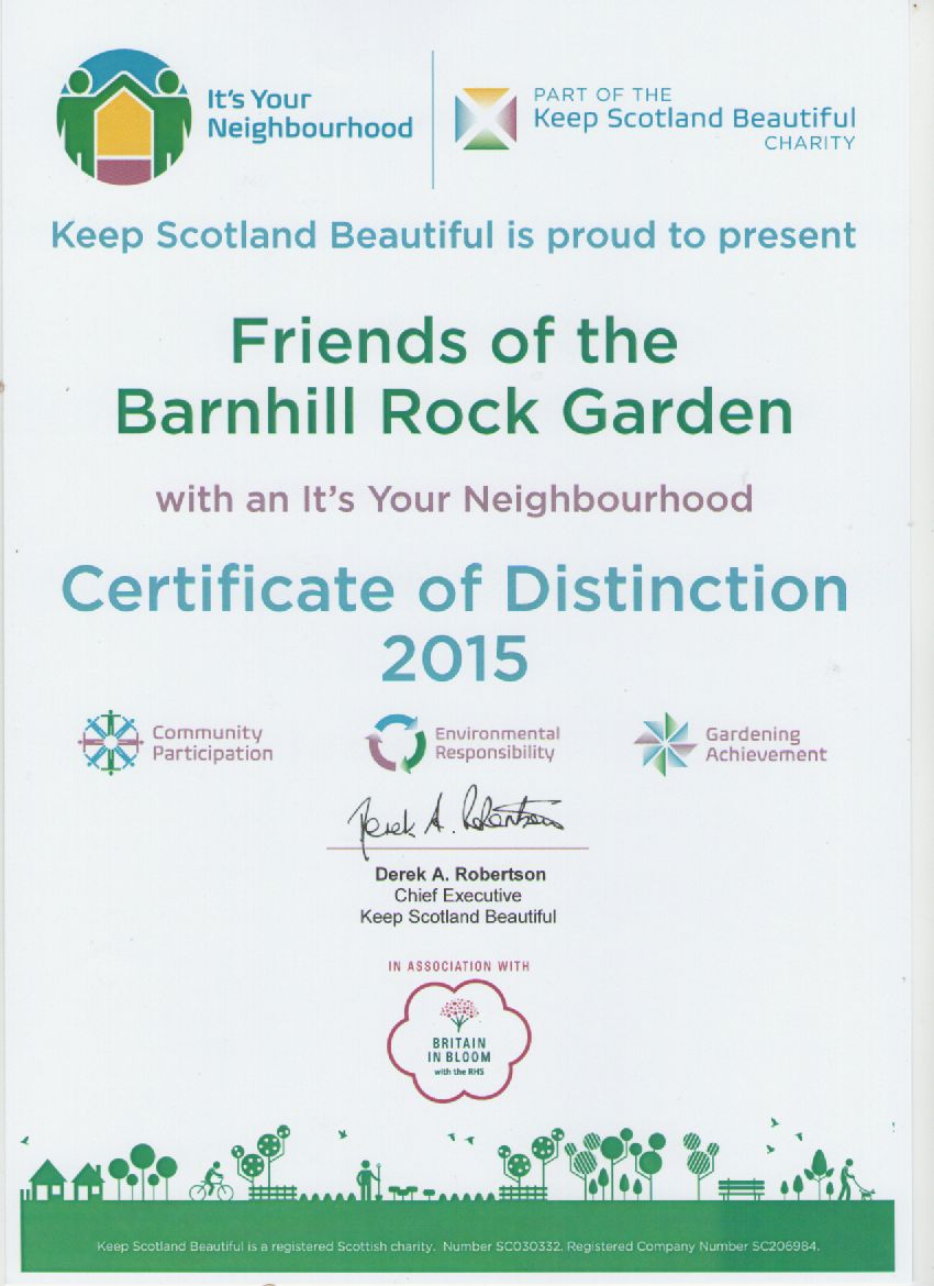 It's your neighbourhood certificate of distinction 2015