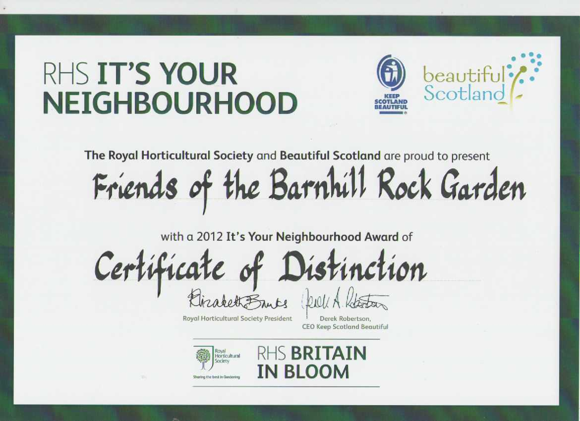It's Your Neighbourhood distinction 2012