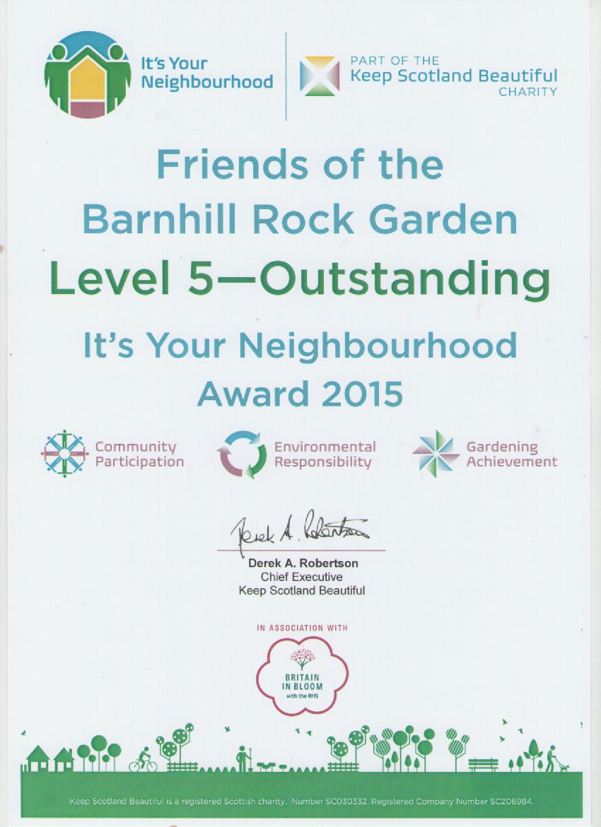 It's your neighbourhood outstanding award 2015