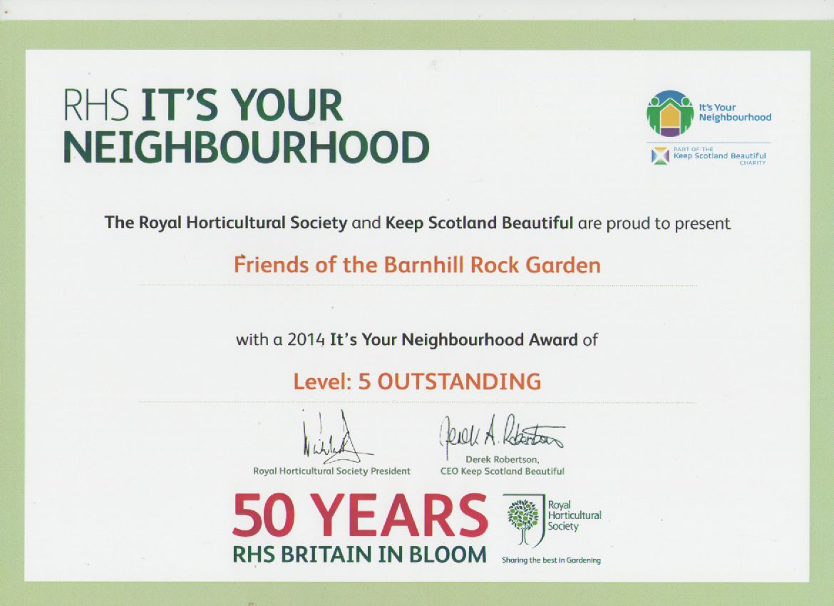 It's your neighbourhood outstanding award 2014