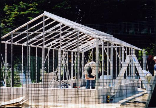 Geddes glasshouse under construction