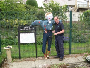 Scarecrow in Geddes area with Michael